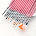 15 pçs/lote Caneta Projeto Da Arte Do Prego 3D Do Prego Jogo de Escova Ferramentas de Desenho Pintura Pen Polonês Brushes Dotting Pen Liner Dot