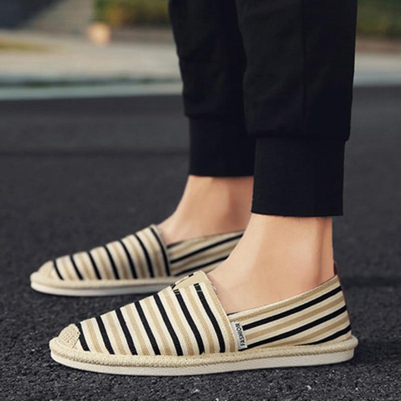Nuevo yellow 2018 Zapatos Casual Suaves Hombres Concisos Cáñamo Moda Black Respirable Los Planos Ocasionales Otoño Primavera Guinga De Holgazanes blue red xEXHE5dq