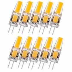 10X G4 2W LED Bulb,G4 COB LED Lighting,20 Watt G4 Halogen Light Bulb Replacement,210LM,2700-3000K Warm White,12V DC