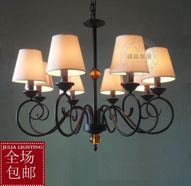 Beleuchtung Fashion Pendelleuchte Wohnzimmer Leuchtet Kurze Schlafzimmer Amerikanische Lampe Stoff Moderne Kristall Lampen