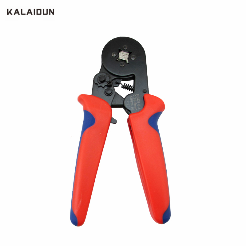KALAIDUN HSC8 6-4 Ratchet Type Terminal Crimping Pliers 0.25-6mm2 Self Adjustable Terminal Crimping Pliers Multi Hand Tools цены