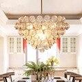 Современный скандинавский железный подвесной светильник для гостиной  спальни  подвесной светильник  стеклянный декор  столовая  домашняя ...