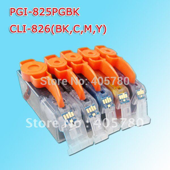25pcs PGI-825BK/CLI-826BK/CLI-826C/CLI-826M/CLI-826Y for Canon ink cartridges PIXMA IP4810/IP4820/IP4840/IP4850/IP4870 фото