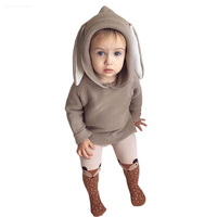2017 Autumn New Baby Boys Sweaters 3D Rabbit Cotton Pullover Kids Girls Knitted Sweater For 1