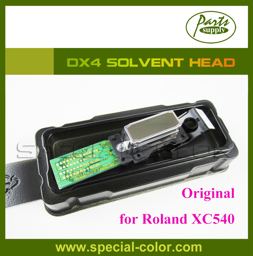 Discount ! original printing spare parts DX4 print head solvent for roland XC540 printer (Get 2pcs DX4 Small Damper free) for roland fj540 fj740 fj640 rs640 sj540 sj740 sj640 eco solvent printhead for dx4