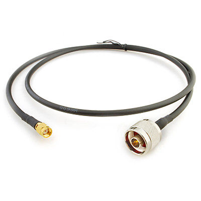 WiFi Antenna EXTENSION Cable/Lead Wireless RP SMA Male to N Male RG58 1M 433mhz antenna waterproof radio aerial 1m rg58 cable rp sma male connector