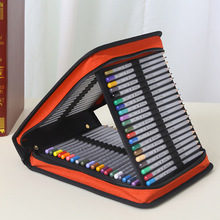 120 Holes Large Capacity Professional Oxford Canvas Bag Pencil Case Pen Storage Pouch Sketch Drawing Tools Art Supplies Bags 36 holes portable professional sketch pencil bag pencil case extender eraser pencil case cutter drawing set bag no pencil ass029