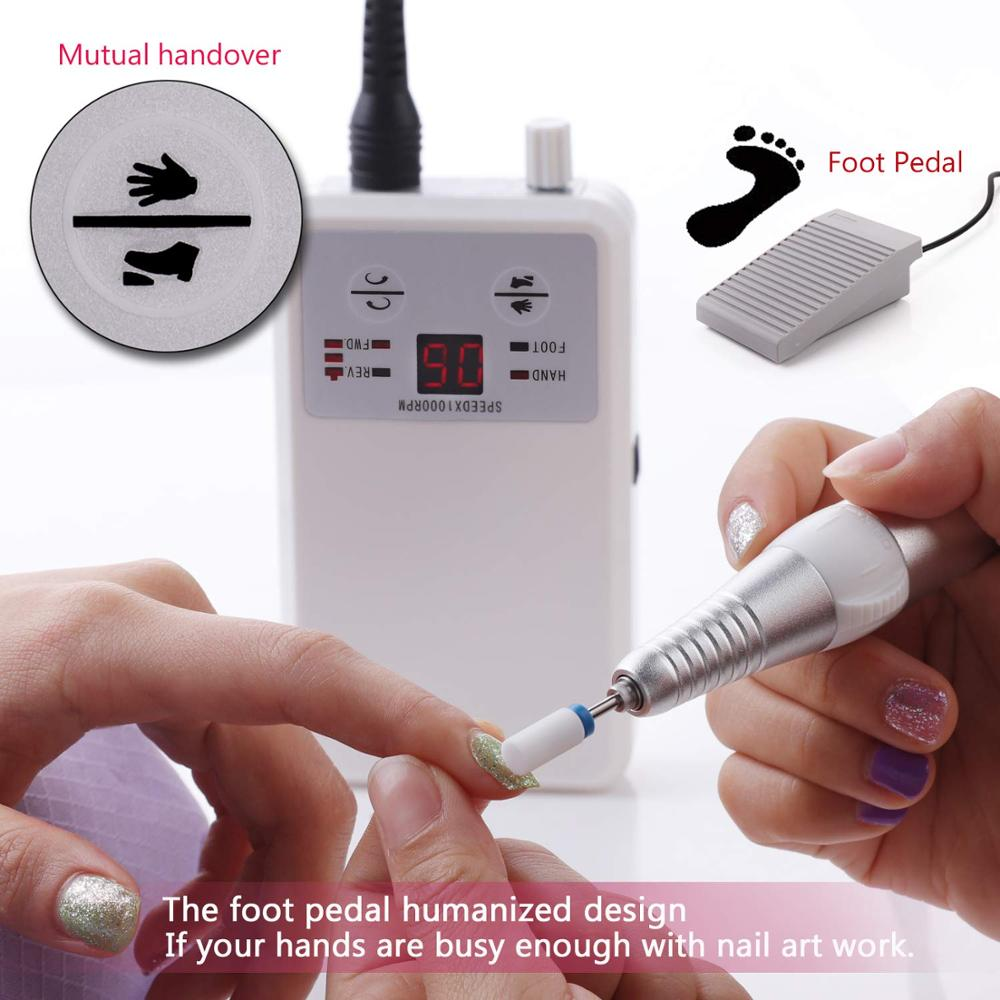 Фрезер для ногтей 35000, фрезер для маникюра и педикюра, Машинка для маникюра и педикюра, инструменты для маникюра и педикюра - 3