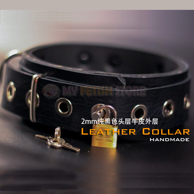 (DM505) handmade quality leather collar the alternative slave bandage can be locked collar leather fetish wear fetish factory leather collar