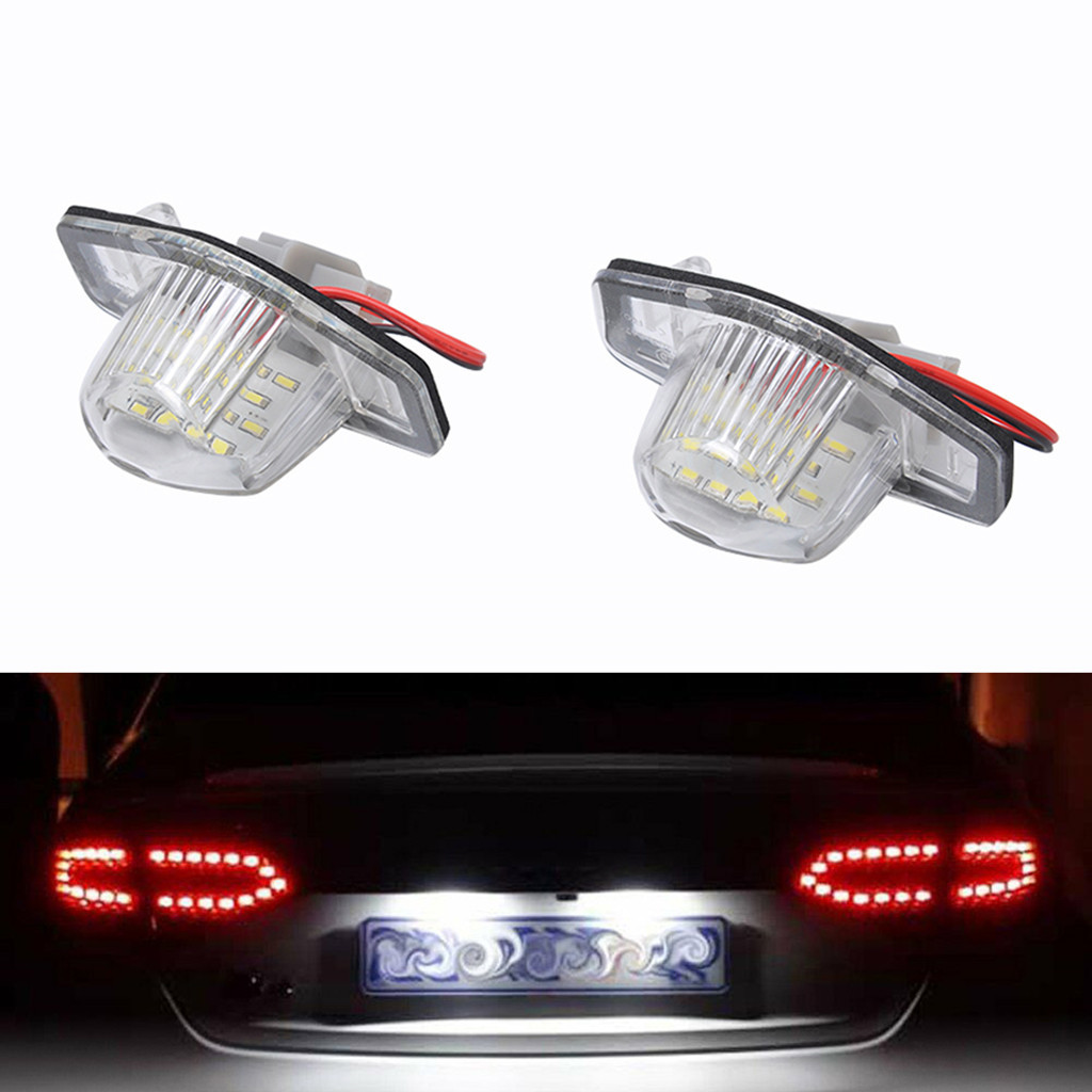 NEW LED Light Bulbs For Cars 2x 18 LED License Plate White Lights For Honda Fit LED Lamps For Cars Car Accessories-in Signal Lamp from Automobiles & Motorcycles