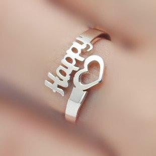 Personnalisé nom anneau bague réglable 925 sterling argent bague personnalisée avec nom cadeau de noël pour sa bague femmes