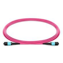 10m MPO Female to MPO Female 12 Fibers OM4 50/125 Multimode Trunk Cable