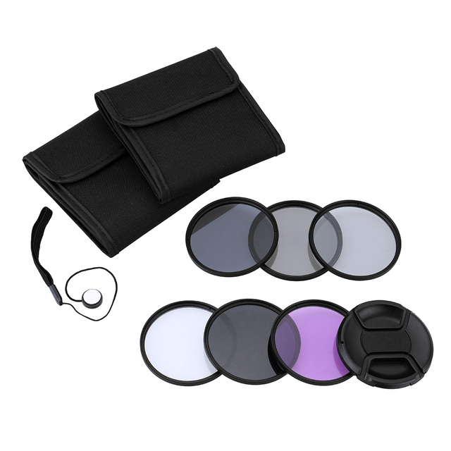 Andoer UV+CPL+FLD+ND(ND2 ND4 ND8) Photography Filter Kit Set  for Nikon Canon Sony Pentax DSLRs 52mm/49/55/58mm/62/67/72/77mm