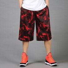 Мужчины печатных баскетбольные шорты Открытый спортивные свободные работает обучение шорты Pantalones Baloncesto мужчин плюс размер 4XL короткие штаны
