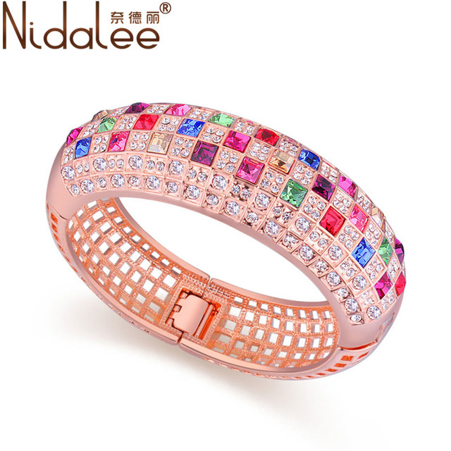 Nidalee Brand luxury jewelry Crystal From Swarovski Queen bracelets & bangles for women party fashion wedding  Accessories 509