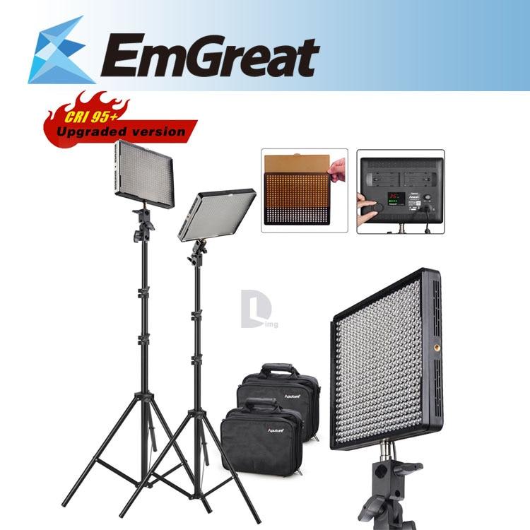 Aputure Amaran AL-528W + AL-528S CRI 95+ 5500K/3200K 528PCS Dimmable LED Video Light Led Light Panels + 2* 2M Light Stand