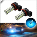 2pcs 10000K Ice Blue 120-SMD H11 H8 H9 LED Bulbs For Fog Light Replacements