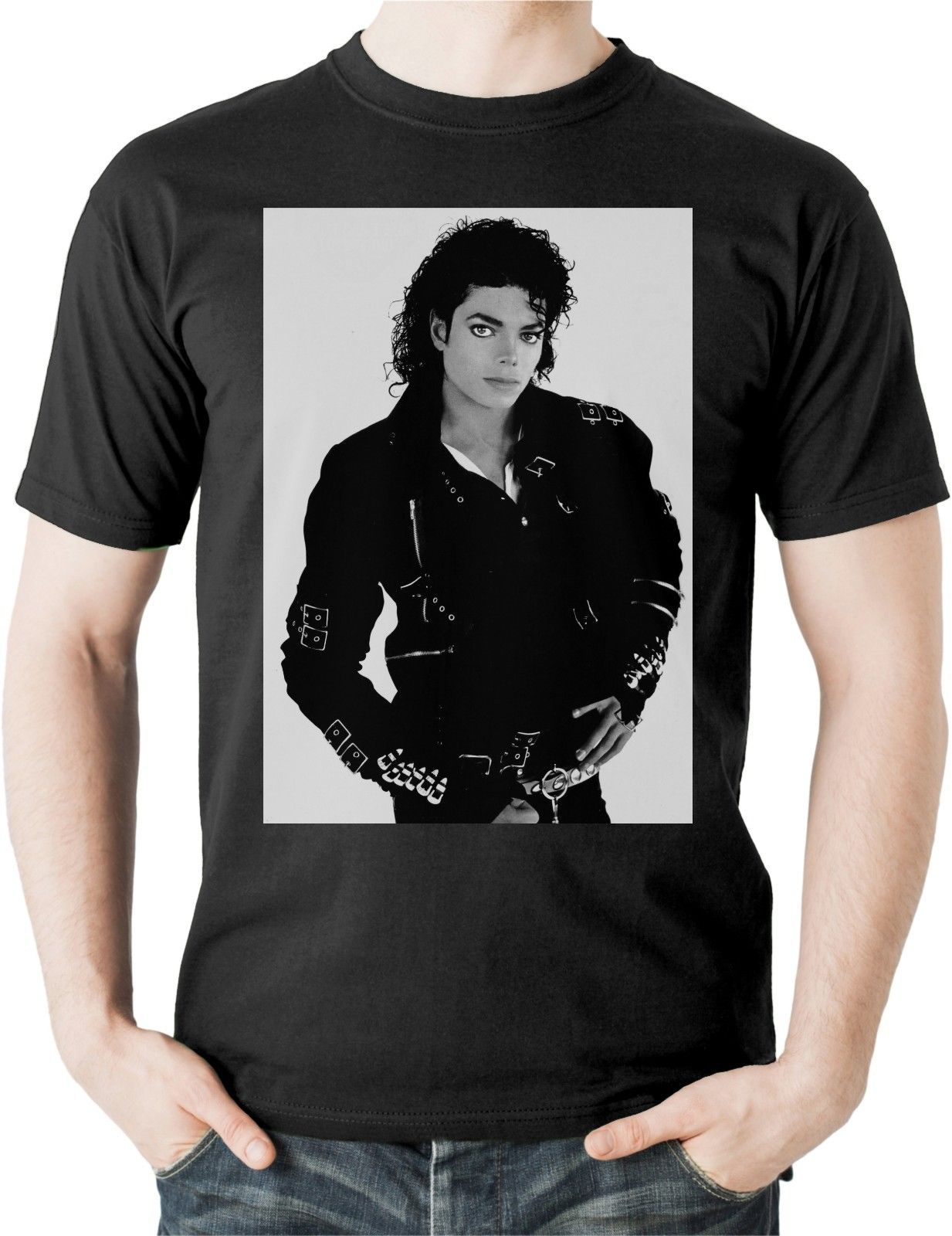 c025b99d0 Michael Jackson T Shirt King Of Pop Thriller Bad Legend Top Tee Music MJ  Unisex-in T-Shirts from Men's Clothing & Accessories on Aliexpress.com |  Alibaba ...