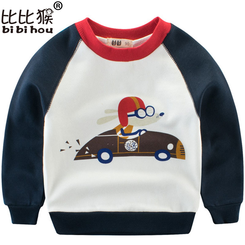 2018 designer boys sweatshirt cotton t shirt for boy cartoon outwear 2-7years kids clothes spring autumn girls tops tees clothes