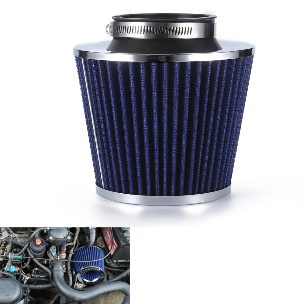 R-EP samochodów uniwersalny filtr powietrza 2.5/2.75/3 cal na zimno dopływ powietrza wysoki przepływ 65mm 70mm 76mm wydajność odpowietrznik filtry