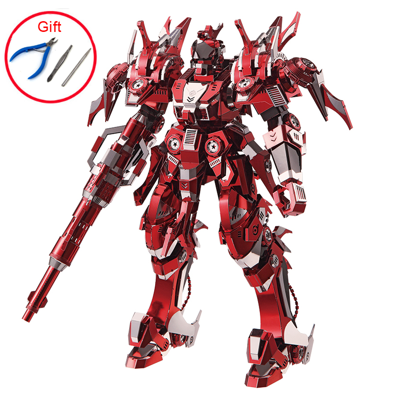 3D Metal Nano Puzzle Red Thunder Edition Model Kits DIY Laser Cut Assemble Jigsaw High-quality Collection Toys For Kids Adult