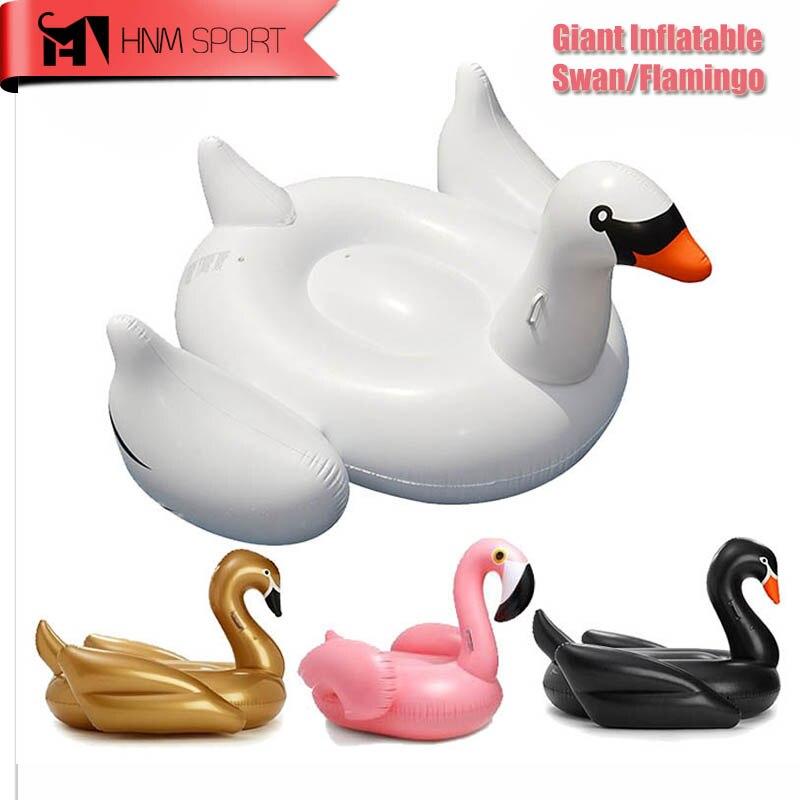 60 pouce 1.5 M Géant Swan Gonflable Flamingo Tour-Sur Piscine Jouet Flotteur gonflable Cygne Anneau De Bain D'eau De Vacances de la Fun Haute Qulity