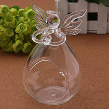 1Pcs Angel Crystal Glass Candle Holder Hanging TeaLight Candlestick