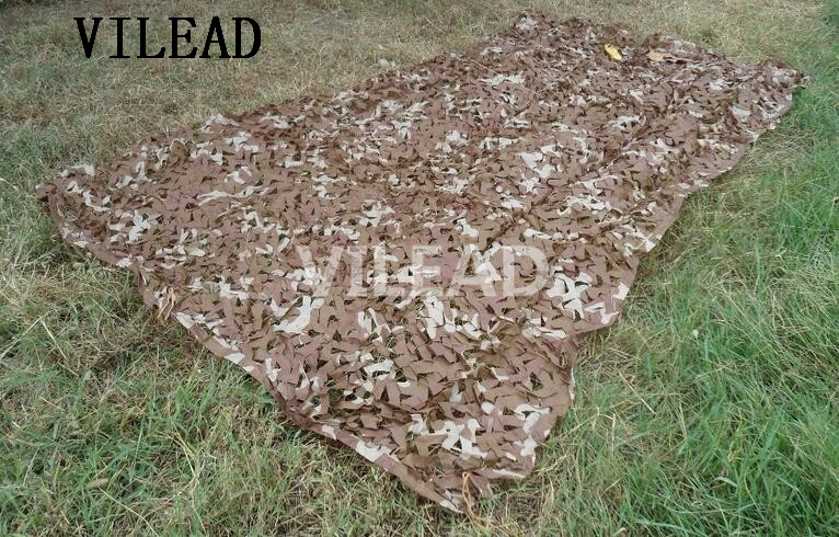 VILEAD 4M*6M Camping Outdoor Desert Army Military Camouflage Nets Camo Netting Sun Shelter Cover Car-Covering Birdwatching camo net 4x5m home decoration desert camouflage net outdoor camping sun shelter high quality military camouflage netting