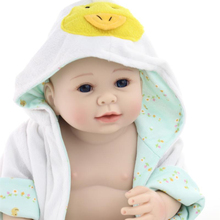 Reborn Baby Doll Soft Silicone 20inch 50cm Magnetic Lovely Lifelike Cute Boy Gir Toy Blue Pajamas Yellow Duck