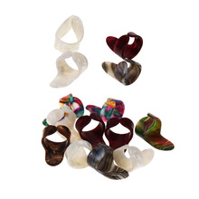 4PCS/10PCS Celluloid Steel Finger Thumb Guitar Picks Mediator Celluloid Thumbpick Fingerpicks Shell Plectrum Guitar Accessories