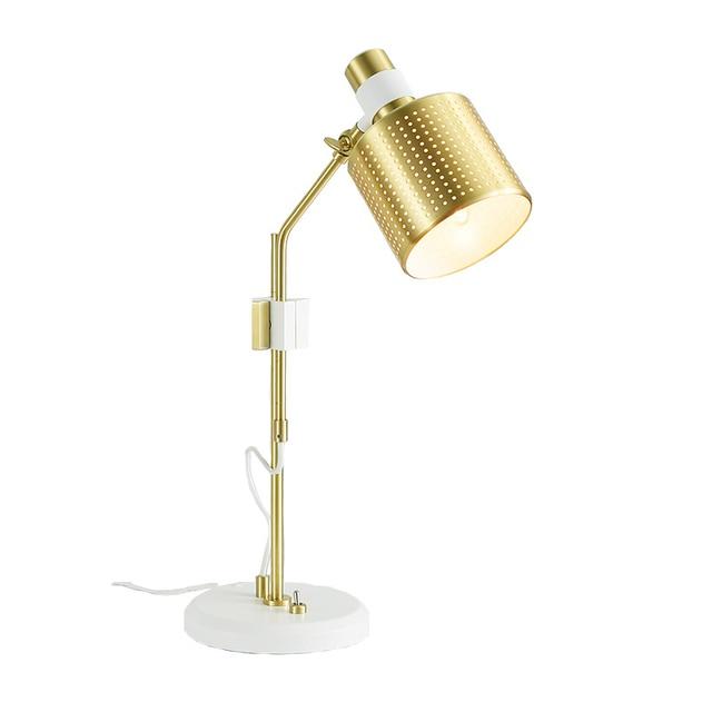 schreibtisch design weis, moderne tisch lampe nordic einfache design weiß gold farbe, Design ideen