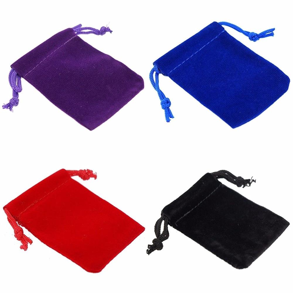 100pcs Soft Velvet Pouches Drawstrings For Jewelry Gift Packaging, 5x7cm,7x9cm,9x12cm