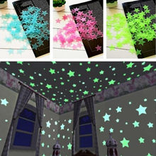 100pcs/set Fluorescent Luminous Kids Bedroom Storage Rooms Star Baby Children's Glow in the Dark Toys Sticker Adhesive(China)