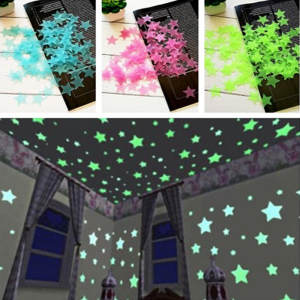 ZUOFILY 100pcs/set Kids Star Glow in the Dark Toys
