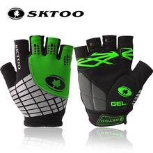 SKTOO 2016 summer mtb bike cycling bicycle gloves half finger glove gel pad for men women