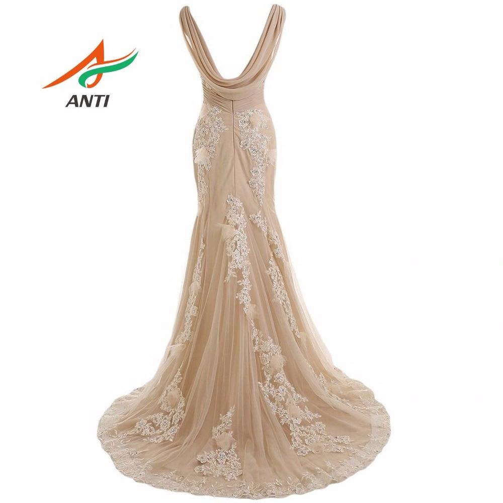 ANTI 2018 Uzun Örgün Abiye abiye Zarif Elbisesi Parti Vestido De - Özel Günler Için Elbise - Fotoğraf 2