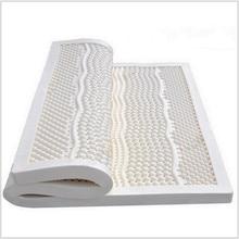 10 CM de espesor Queen Size ventilada siete zona del molde 100% colchón de látex Natural / Topper – con cubierta interior blanco Midium suave
