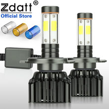 Zdatt 2Pcs H4 Led Bulb H7 H8 H9 H11 9005 HB3 9006 HB4 Canbus Headlight 100W 12000LM Moto Auto COB Car Led Light 12V Motorcycle(China)