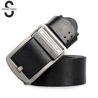 Senza Fretta Vintage Genuine Leather Belt Men Leather Belt Fashion Casual Vintage Jeans Clothing Accessories Belt