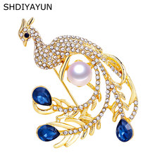 9b0f7c2f3 SHDIYAYUN 2019 Pearl Brooch Peacock Brooch For Women Decoration Brooch Pins  Noble Brooches Natural Freshwater Pearl Jewelry