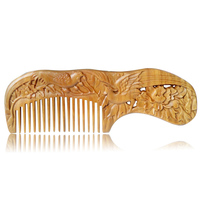Handmade China Style Natural Wooden Carved Comb
