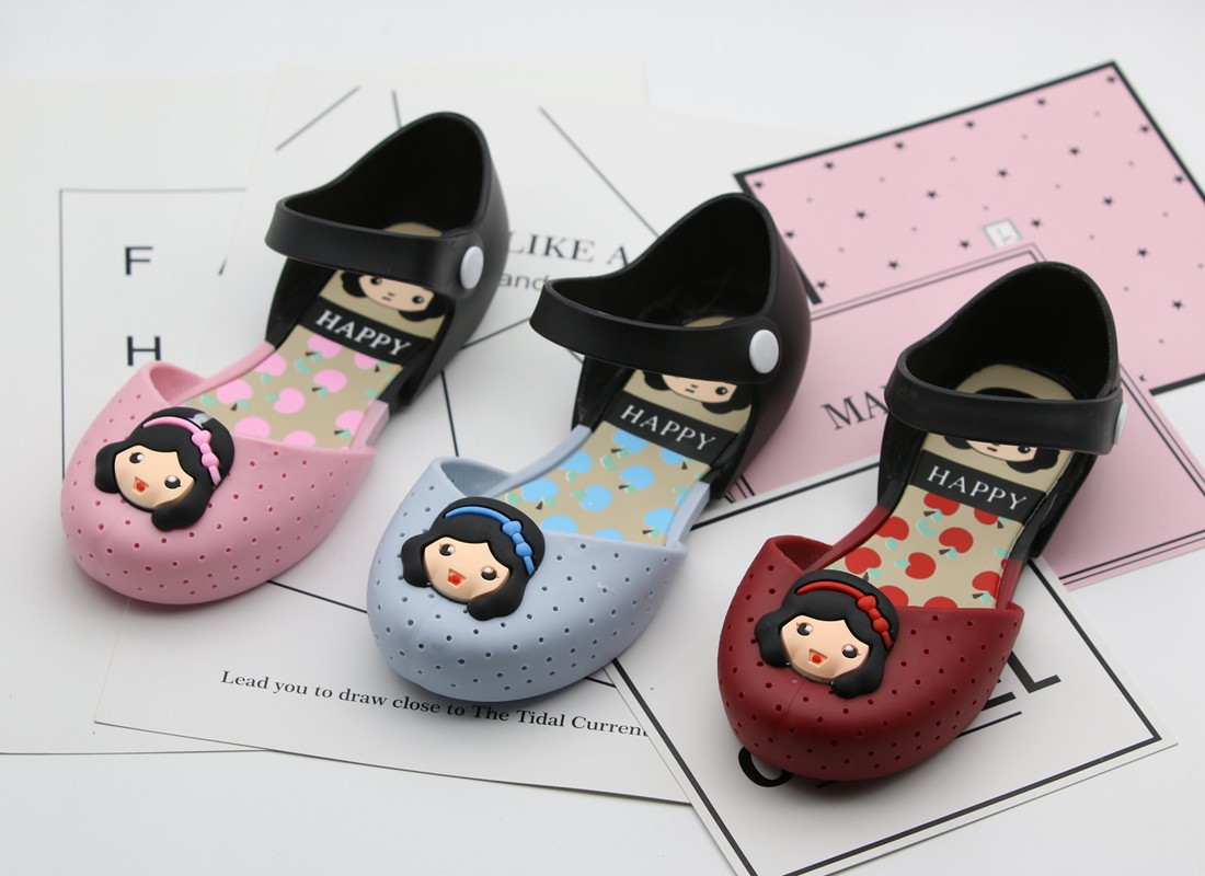 Mini Melissa Girls Sandals Soft Jelly Shoes Toddler Cute Princess Flat Lady Sepatu Sendal Wanita Summer Baby Plastic