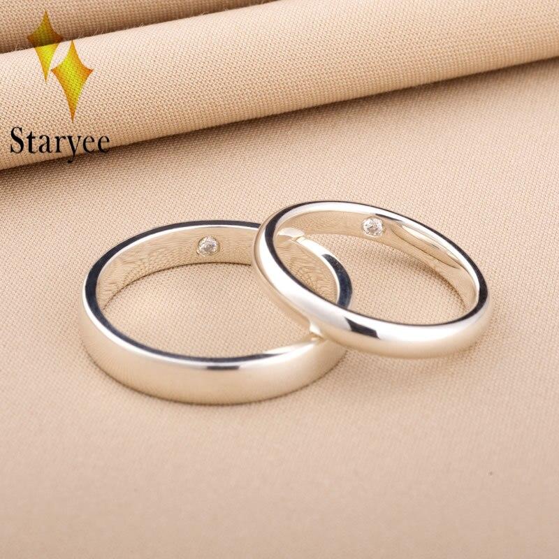 STARYEE Классический 18 К белого золота Природный настоящий бриллиант SI/H Кольцо для Для женщин Юбилей Обручение Свадебная вечеринка тонкой юве
