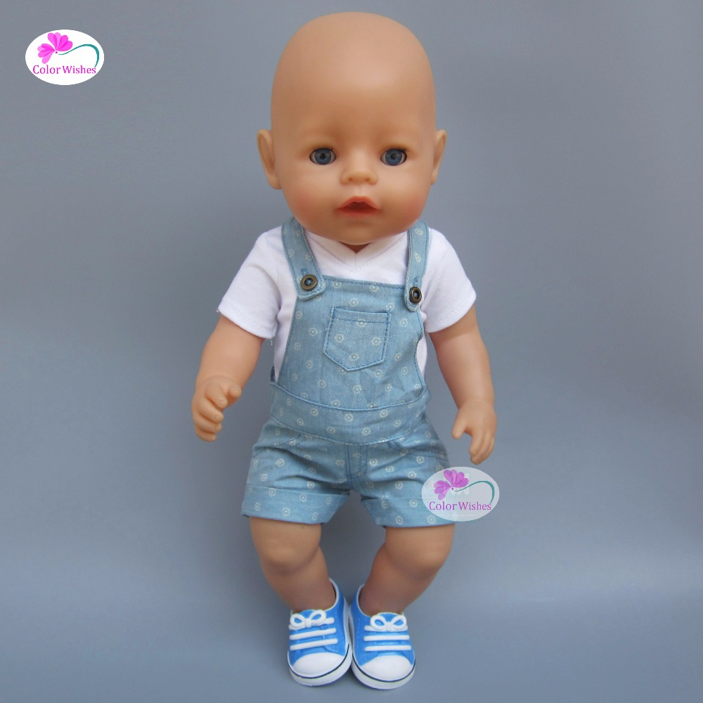 Clothes for dolls fits 43-45cm American girl Baby Born zapf doll T-shirt dress suitcase fashion t shirt tie pants sneakers clothes for dolls 18 inch 45cm american girl and zapf baby born doll accessories