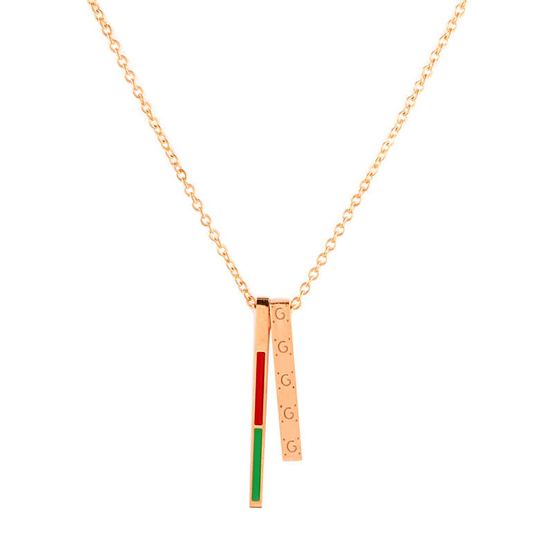 Women Stainless Steel Necklaces Long Strip Jewelry Colorful Trendy Stick Pendant Necklace Hollow Long Link Chain Collier Femme