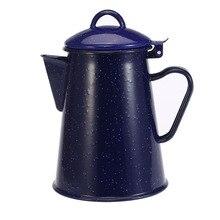 800/1200/1800/2400 мл звездное небо синий эмаль чайник для воды с рукояткой высокое качество воды горшок Кофе чайник для воды