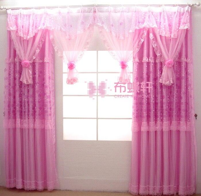 Rideaux de dentelle de mariage de haute qualité de jardin coréen pour le salon de chambre fini des rideaux transparents de fleurs faites sur commande