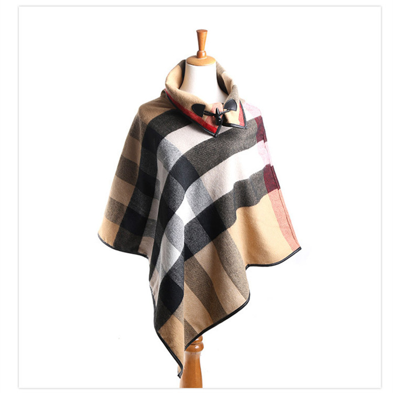 Pashmina Cashmere Shawl Ponchos and Capes Fall 2017 Scarves and Stoles Large Shawls for Woman Plaid