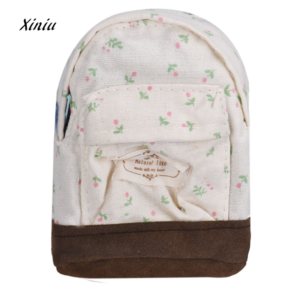 Canvas Mini Floral Printed Coin Purse Designed Women Girls Kids Cheap Coin Purses Pouch Bag Money Store Bag