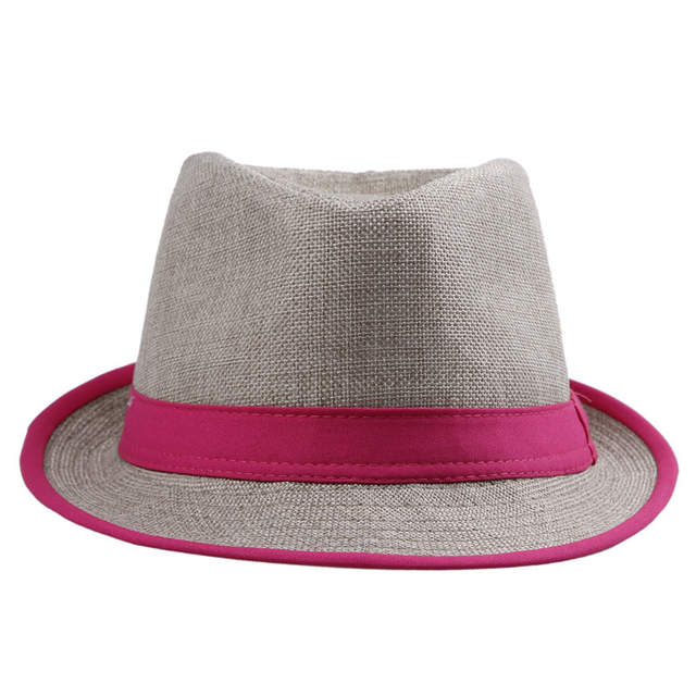 79eb3ac0ed522 placeholder LNPBD Women Mens Unisex Neon Brim Fedora Trilby Gangster Cap  Summer Beach Hat Boho Sun Straw